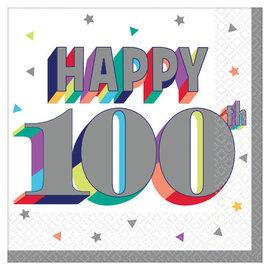 Here's To 100 Beverage Napkins -16ct