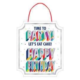 Here's To Your Birthday Hanging Sign