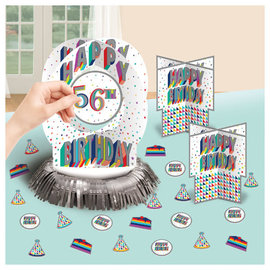 Here's To Your Birthday Add-Any-Age Table Decoration Kit