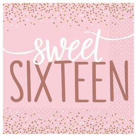 Sixteen Blush Luncheon Napkins -16ct