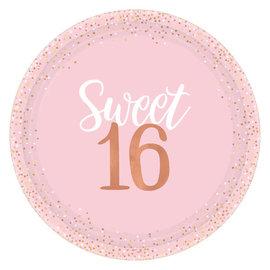 "Blush Sixteen Foil Plates, 10 1/2"" -8ct"