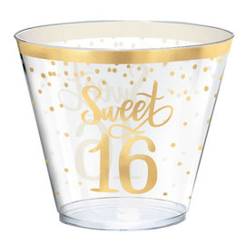Blush Sixteen Hot-Stamped Plastic Tumblers, 9 oz.  -30ct