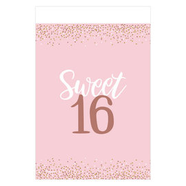 "Blush Sixteen Plastic Table Cover -54"" x 102"""