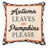 "Autumn Leaves Pillow -12"" x 12"""