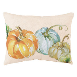 "Fall Pumpkins Pillow -12"" x 9"""