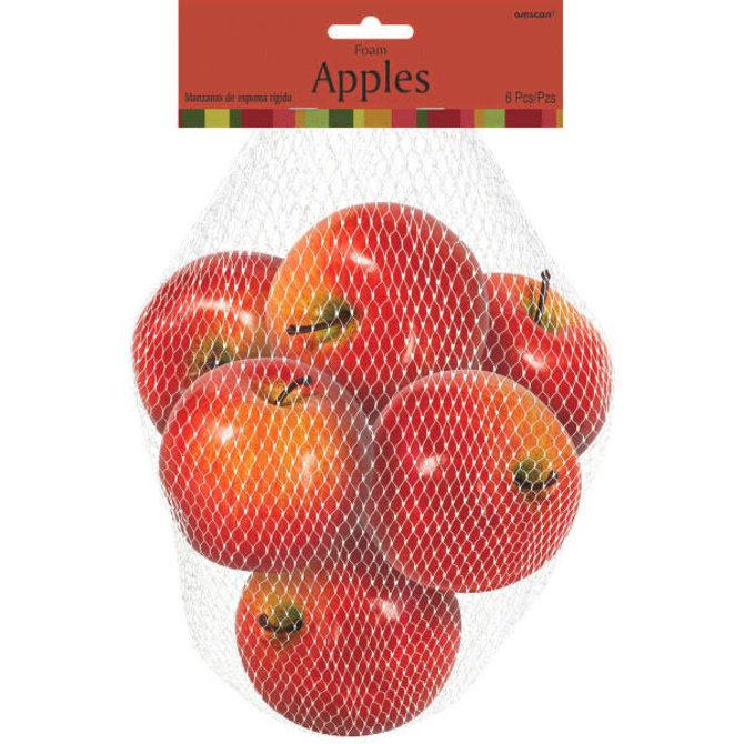 """Bag of Apples - 6ct -3"""" x 3 1/4"""", each Foam"""