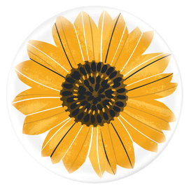 "Sunflower Printed Charger -13"" dia. Melamine"