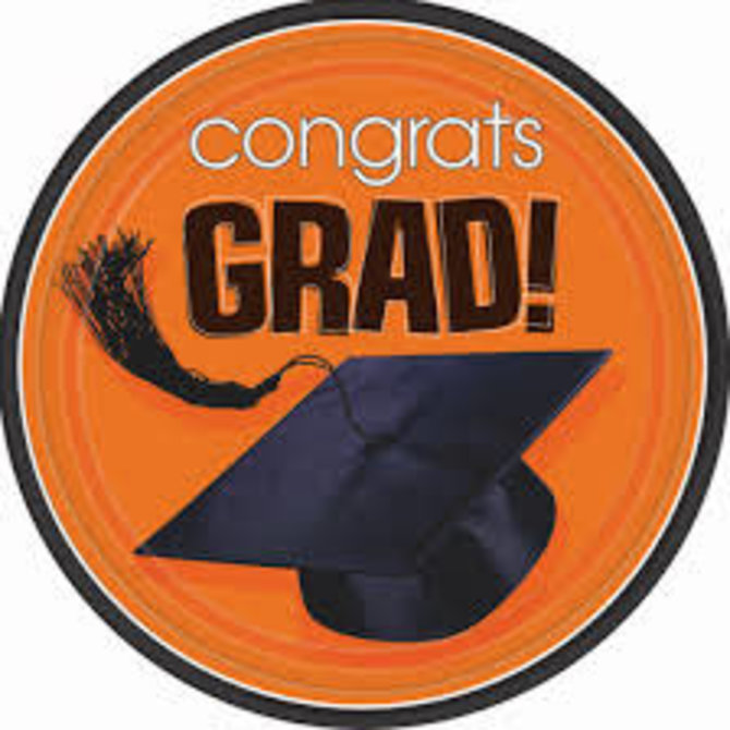 "9"" Grad Plate 18 count -Orange"