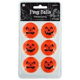 Jack-O-Lantern Pong Ball, 6ct
