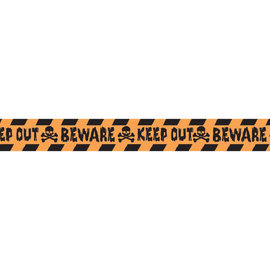 """Halloween """"Keep Out"""" Plastic Caution Tape, 100'"""