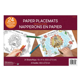 Thanksgiving Color Paper Placemats