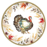 """Classic Thanksgiving Round Plates 9"""", 60ct"""