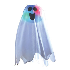 Halloween Light-Up Ghost Fabric Hanging Decoration