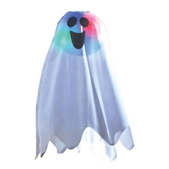 Halloween Light-Up Ghost Fabric Hanging Decoration