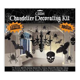 Glitter Paper Chandelier Decorating Kit- 17ct