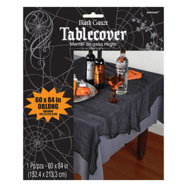 Black Cheesecloth Table Cover