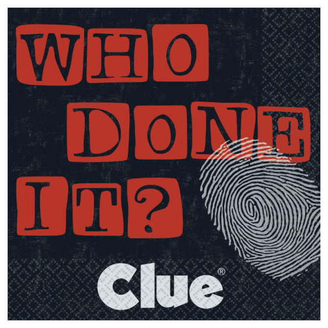 Clue® Who Done It Beverage Napkins-16ct