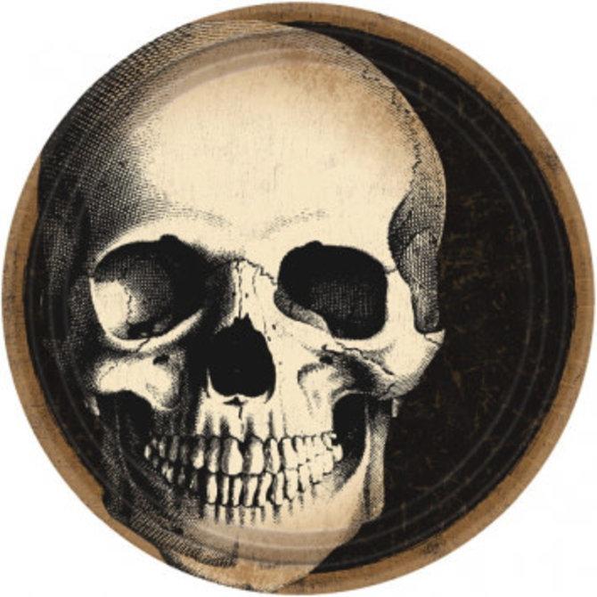 "Boneyard Round Plates, 7"" 60ct."