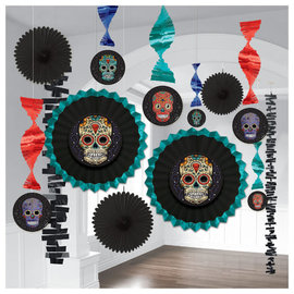 Sugar Skull Room Decorating Kit-13ct