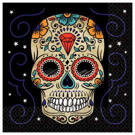 Sugar Skull Luncheon Napkins-36ct