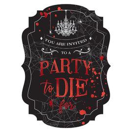 Dark Manor Jumbo Deluxe Invitations -8ct