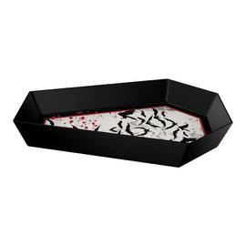 "Dark Manor Coffin Shaped Bowl -12 4/5"" x 8"" Melamine"