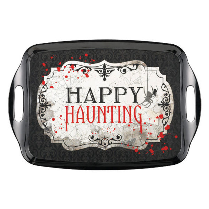 "Happy Haunting Rectangle Tray w/ Handles-14"" x 20 1/4"""