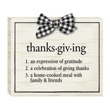 Thanksgiving Definition Sign