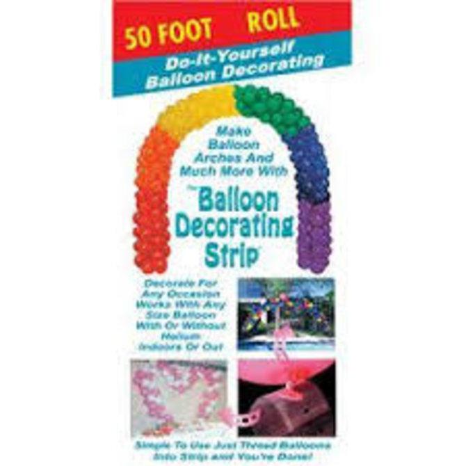 50' Balloon Deco Strip-Clear