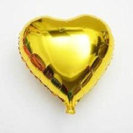 "Gold Heart Shape Balloon, 18"""