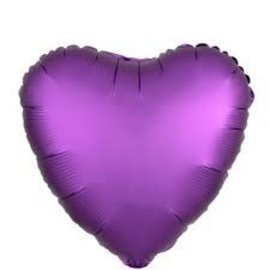 Purple Heart Shape Balloon, 18""