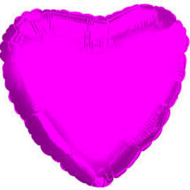 """Hot Pink Heart Shape Balloon, 18"""""""
