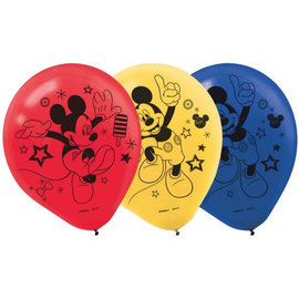 Mickey on the Go Printed Latex Balloons, 6 ct.