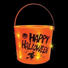 "LED Pumpkin Bucket, 11.5"""