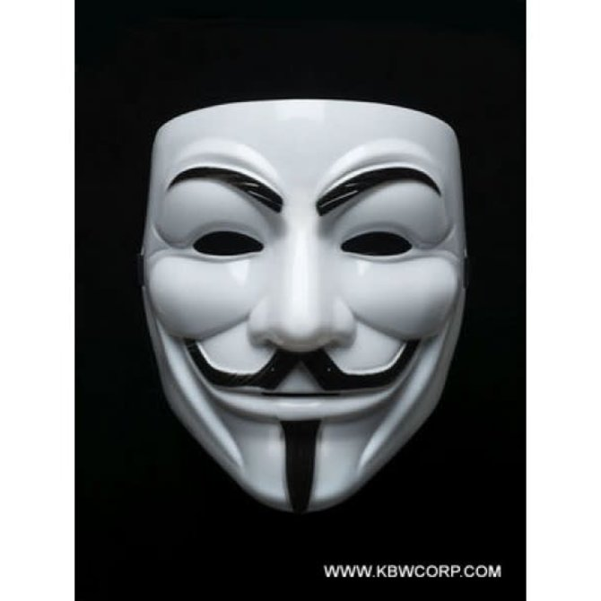 Vendetta White Face Mask