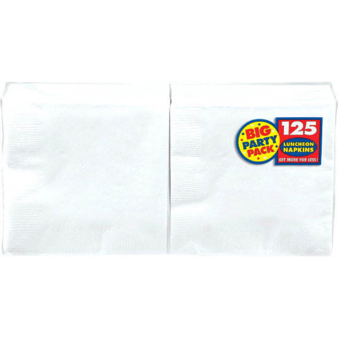 Frosty White Big Party Pack Luncheon Napkins