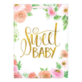 Floral Baby Super Large Bag w/ Gift Tag
