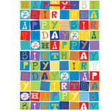 Checkerboard Birthday - Jumbo Gift Bag