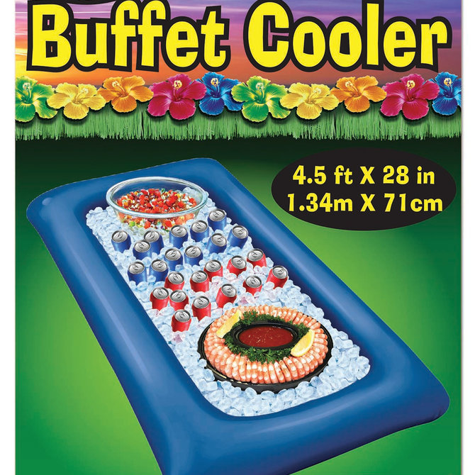 Inflatable Buffet Cooler- Blue