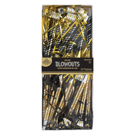 """Deluxe Blowouts Multipack 17"""" - Black, Gold, And Silver-24ct"""