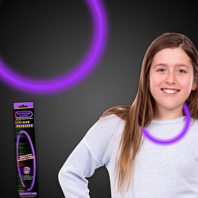 "22"" Glow Necklace- Purple"