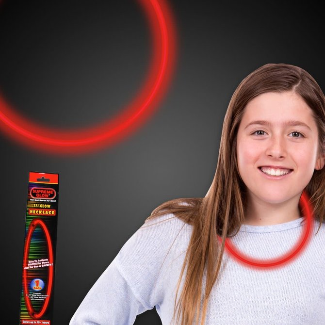 "22"" Glow Necklace- Red"