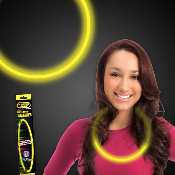 "22"" Glow Necklace- Yellow"