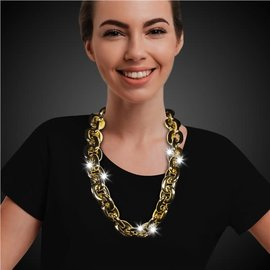 Metallic Gold 36 Link Light Up Chain Necklace