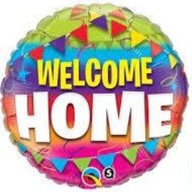 "Welcome Home Pennants Balloon, 18"""