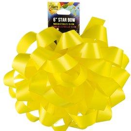 "6"" Star Bow Neon Yellow"