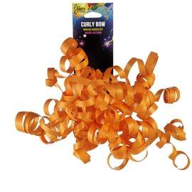 Small Neon Orange Curly Bow