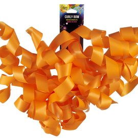 Thick Curly Bow Orange