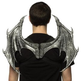 "Supersoft Mini Dragon Wings 17""-13"" - Silver"