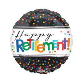 "Happy Retirement Foil Balloon, 18"" (#221)"